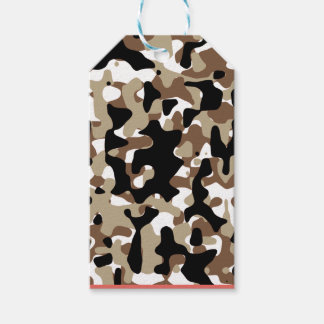 Snow open terrain  Camouflage Gift Tags