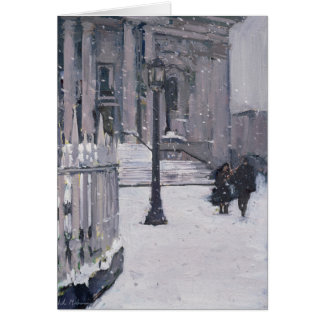 Snow outside St. Paul's 2009 Card