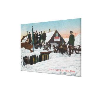 Snow Over the House TopsNome, AK Gallery Wrap Canvas