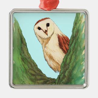 snow owl animal ornament