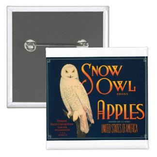 Snow Owl Brand Apples 15 Cm Square Badge