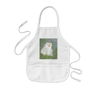 Snow Owl Kids Apron