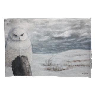 Snow Owl On Prairie Pillow Case