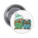Snow Owls Pinback Button