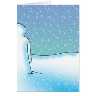 Snow Patience Card