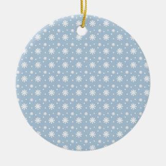 Snow Pattern Ceramic Ornament