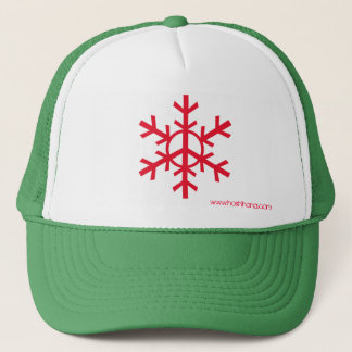 Snow Peace Trucker Hat - red logo