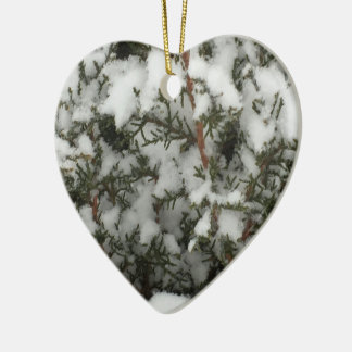 Snow Pine Ceramic Ornament