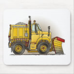 Snow Plough Truck Mouse Pad