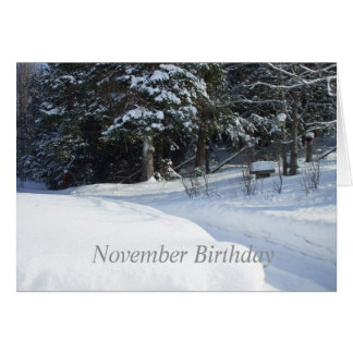 Snow Ploughed Country Road Card