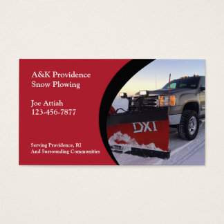 Snow Ploughing Business Card