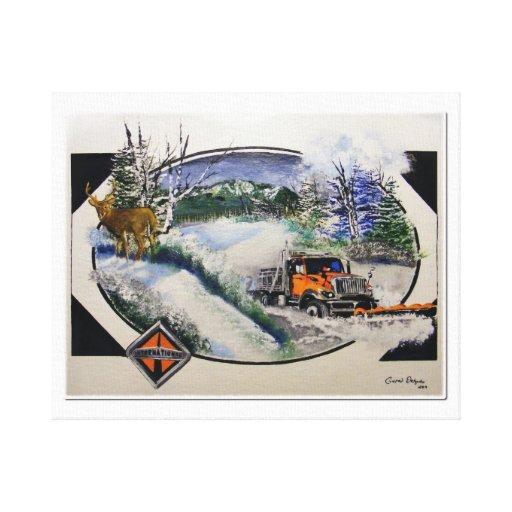 Snow PLow Canvas Prints