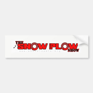 Snow Plow Show Bumper Sticker