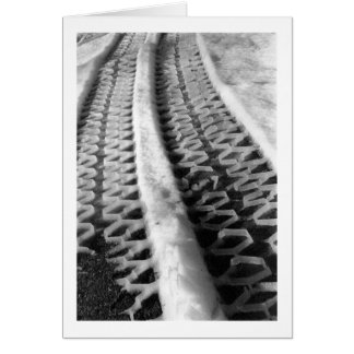 Snow Plow Tracks Note Card