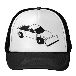 snow plow truck trucker hats