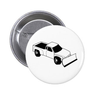 snow plow truck pinback button