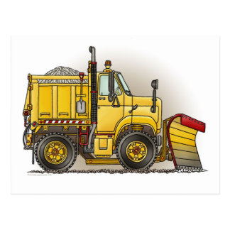 Snow Plow Truck Post Card