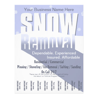 Snow Plowing Service. Removal Business. Flyer