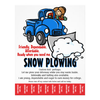 Snow Plowing Service. Snow Removal business. Flyer