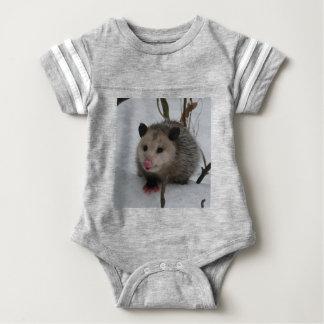 Snow Possum Baby Bodysuit