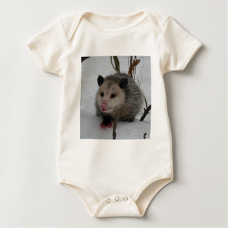 Snow Possum Baby Bodysuit