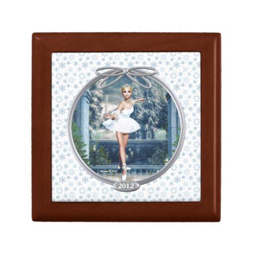Snow Princess Ballerina Keepsake Jewelry Box