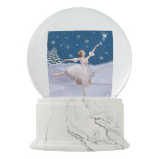 Snow Queen Ballerina and Star Snow Globes