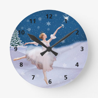 Snow Queen Ballerina Customizable Clock