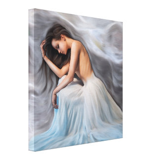 Snow Queen Stretched Canvas Print