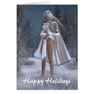 Snow Queen - Happy Holidays Greeting Card
