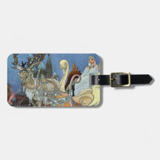 Snow Queen Ice Princess Luggage Tag
