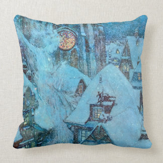 Snow Queen on a Winter's Night Dulac Fine Art Throw Pillow