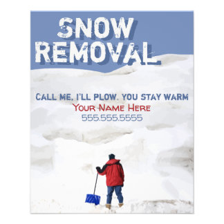 Snow Removal Advertising Flyer.Snow Plowing Flyer