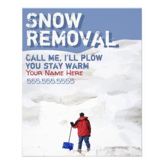 Snow Removal Customizable Flyer.Snow Plow Biz Flyer