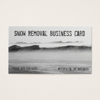 Snow Removal Lake Michigan Ice Blizzard Business Card