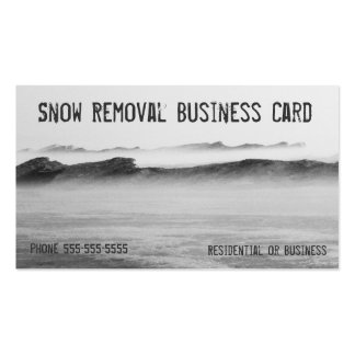 Snow Removal Lake Michigan Ice Blizzard Pack Of Standard Business Cards
