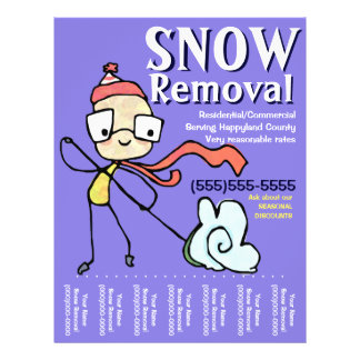Snow Removal Plowing Shoveling Flyer