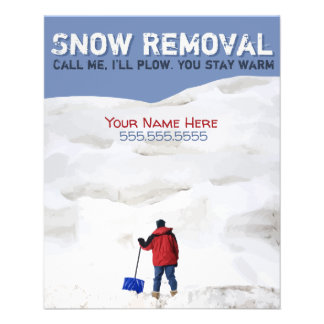 Snow Removal. Snow Plow Business. Customizable Flyer
