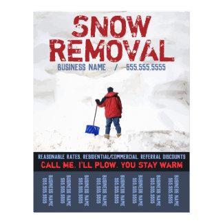 Snow Removal. Snow Plow Business.CustomTear Sheet