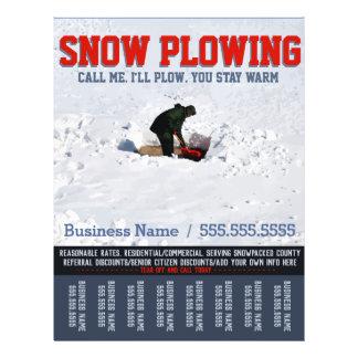 Snow Removal. Snow Plow Service.Custom Tear Sheet