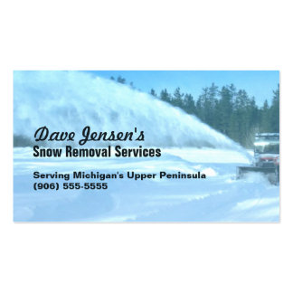 Snow Removal Snowplowing Shoveling Service Business Card