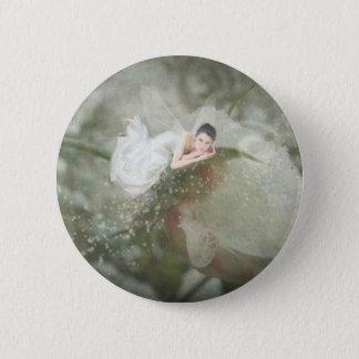 Snow Rose Fairy 6 Cm Round Badge