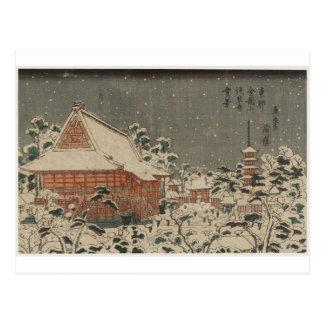 Snow Scene at Sensô-ji Temple at Kinryûzan Postcard