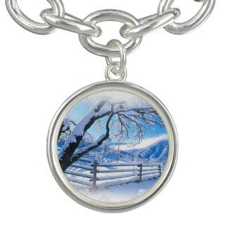 Snow scene bracelet