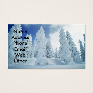 Snow Scene Business Cards