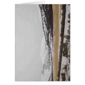 Snow Scene Greeting Card