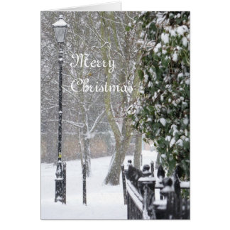 Snow Scene Christmas Card