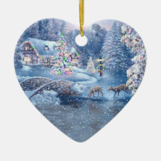 Snow Scene Christmas Ornament