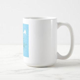 Snow scene coffee cup basic white mug