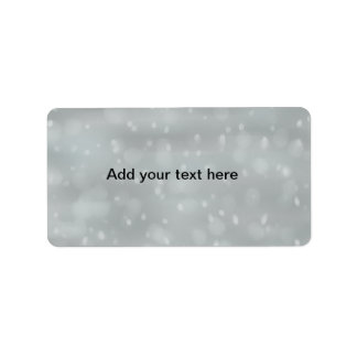 snow scene customizeable labels